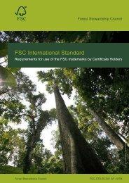 FSC-STD-50-001 - Rainforest Alliance
