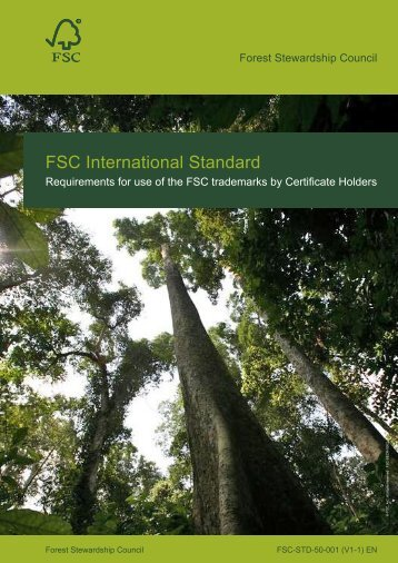 FSC-STD-50-001 - Rainforest Alliance