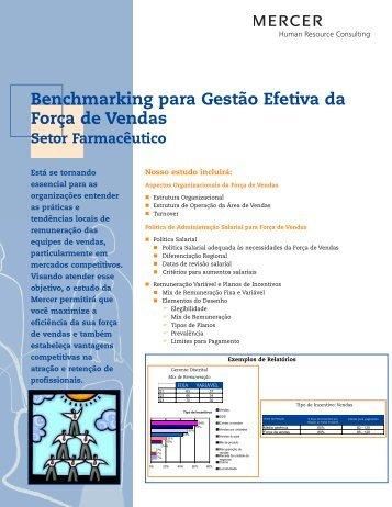Benchmarking para Gestão Efetiva da Força de Vendas - iMercer.com