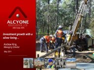 Investor Update - 17 May 2011 - Alcyone Resources