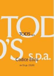 Codice Etico - Tod's