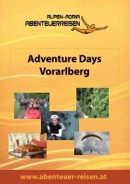 Adventure Days Vorarlberg - Abenteuer Reise in Österreich