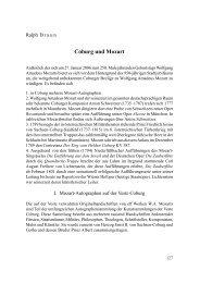 Coburg und Mozart – Aufsatz - arts Ralph Braun