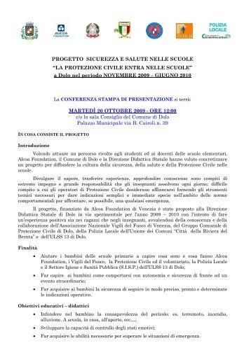 PROGETTO SICUREZZA E SALUTE NELLE ... - Comune di Dolo