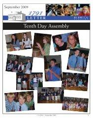 September 2009 1791 Letter - Berwick Academy
