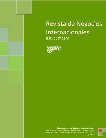 Revista de Negocios Internacionales - Universidad EAFIT