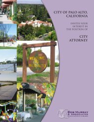 CITY OF PALO ALTO, CALIFORNIa CITY attorney - Bob Murray ...
