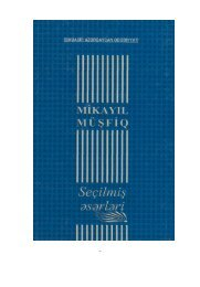 Seçilmiş əsərləri - Azərbaycan Milli Kitabxanası