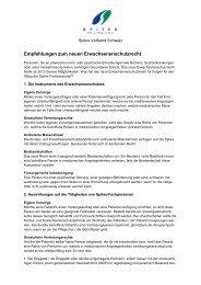 Empfehlungen zum neuen Erwachsenenschutzrecht