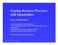Scoping Business Processes with Stakeholders - BPAWG 2007-07-26