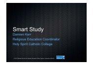 Studies of Religion: Smart Study - Catholic Education Office Sydney