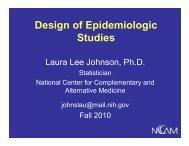 Design of Epidemiologic Design of Epidemiologic Studies