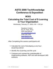 Calculating the Total Cost of E-Learning in Your Organization
