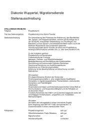 Diakonie Wuppertal, Migrationsdienste ... - Transkom