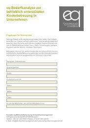 eq-Bedarfsanalyse zur betrieblich unterstützten Kinderbetreuung in ...
