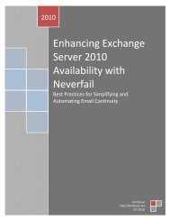 Enhancing Exchange Server 2010 Availability with Neverfail