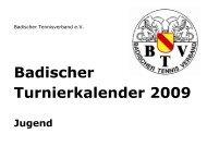 Badischer Turnierkalender 2009 - Heidelberger Tennisclub 1890 eV