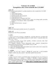 Usnesení z 24. zasedání Zastupitelstva obce Tršice konaného dne ...