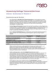 Auswertung Umfrage Tanzvermittler - Tanzvermittlung