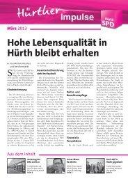 Hürther Impulse - März 2013.indd - SPD Ortsverein Hürth