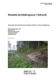 Stiftelsen Kulturmiljövård Rapport 2012:98 - KMMD