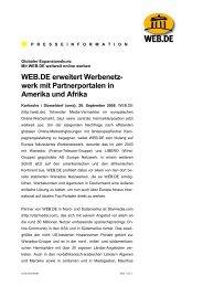 WEB.DE erweitert Werbenetz- werk mit Partnerportalen in Amerika ...