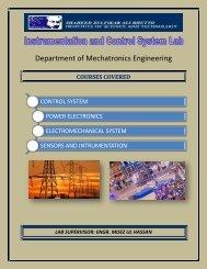 Instrumentation & Control Lab - SZABIST