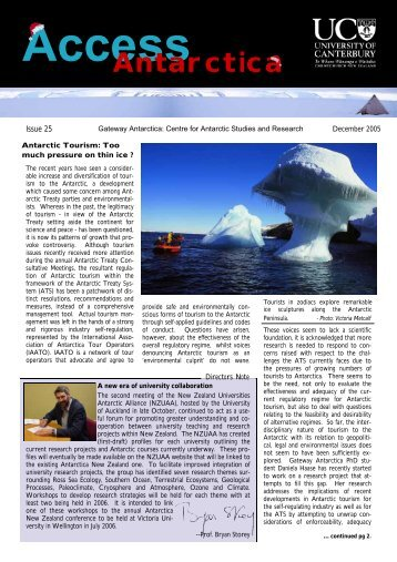 December - Gateway Antarctica - University of Canterbury