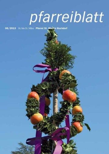 Neuste Ausgabe Pfarreiblatt - Pfarrei Hochdorf