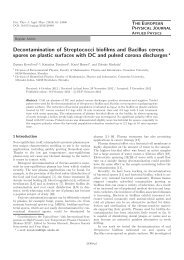 Decontamination of Streptococci biofilms and Bacillus cereus spores ...