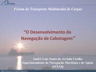 """""""O Desenvolvimento da Navegação de Cabotagem"""" - Antaq"""