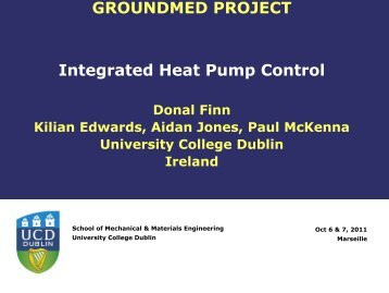 Heat Pump Control Summary - GROUND-MED project