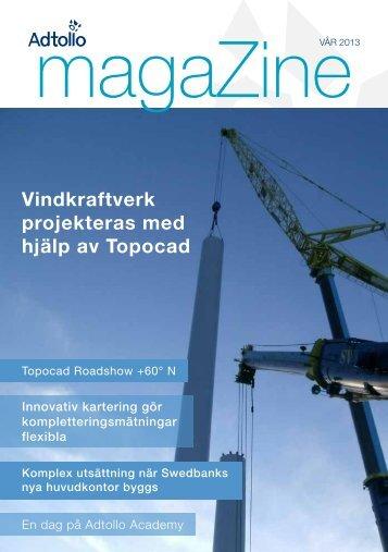 Vindkraftverk projekteras med hjälp av Topocad - Adtollo