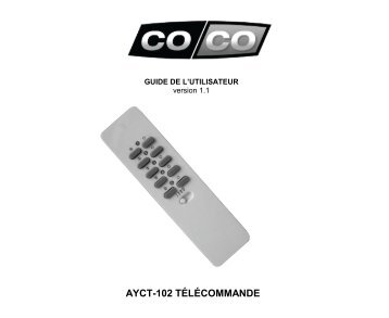 télécommande - Coco technology