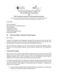 2012 Federal Budget – International Taxation Proposals