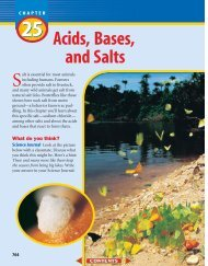 Chapter 25: Acids, Bases, and Salts - Wylie Jr. High School