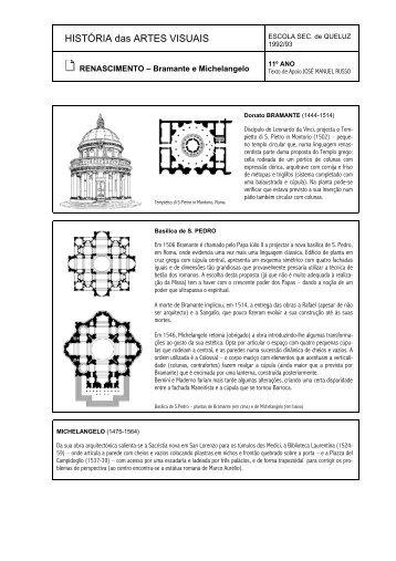 Bramante e Michelangelo - Home Page de José Manuel Russo
