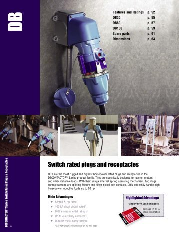 Switch rated plugs and receptacles