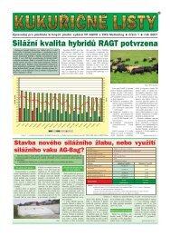 Silážní kvalita hybridů RAGT potvrzena - VP Agro