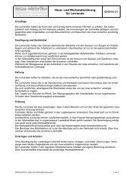 Haus- und Werkstattordnung - msw-winterthur