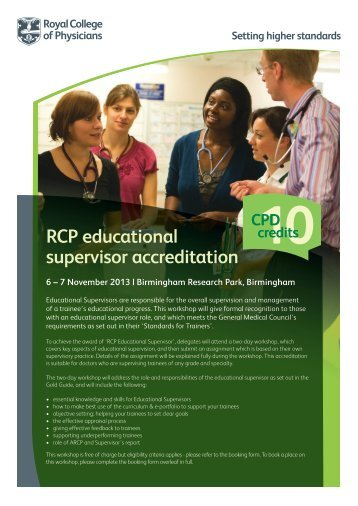 Educational Supervisors 6&7 November 13 - Events