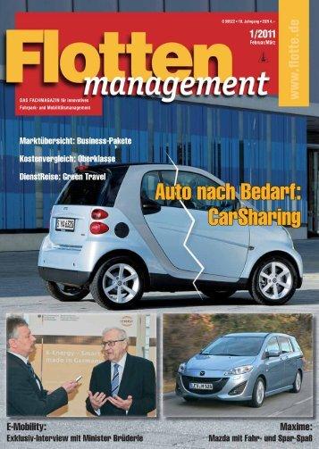Auto nach Bedarf: Carsharing - Flotte.de
