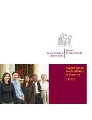 Rapport annuel Points saillants de l'exercice 2007