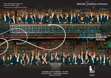 2013 Annual Appeal.pdf - Adelaide Symphony Orchestra