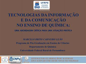 tecnologias da informação e da comunicação no ensino de química ...