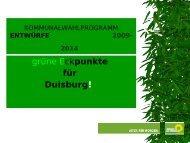grüne Eckpunkte für Duisburg! - Die Grünen Duisburg