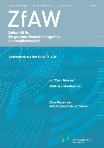Dr. Stefan Niemand Matthias Liebe-Kleymann Zehn Thesen zum ...