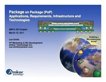 Package on Package (PoP) Applications, Requirements ... - SMTA