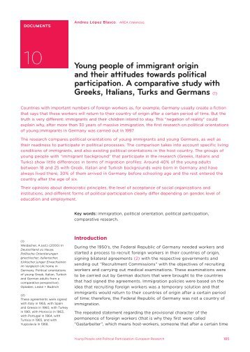 Young people of immigrant origin and their attitudes towards ... - Injuve