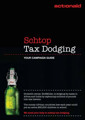 Schtop tax dodging campaign guide - ActionAid